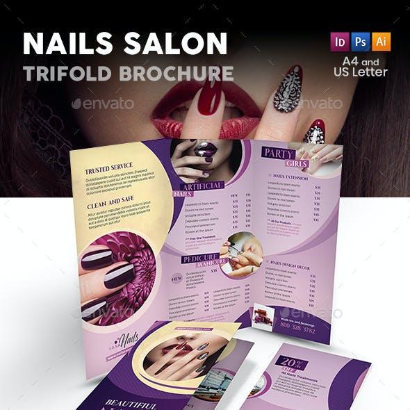 Nails Salon Trifold Brochure