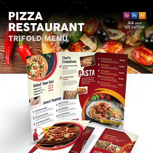 Pizza Restaurant Trifold Menu 2