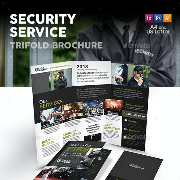 Security Guard Service Trifold Brochure