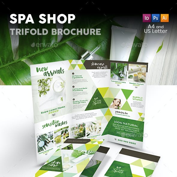 Spa Shop Trifold Brochure