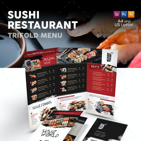 Sushi Restaurant Trifold Menu
