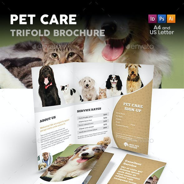 Pet and Animal Care Trifold Brochure