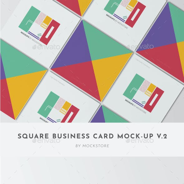 Square Business Card Mockup Pack