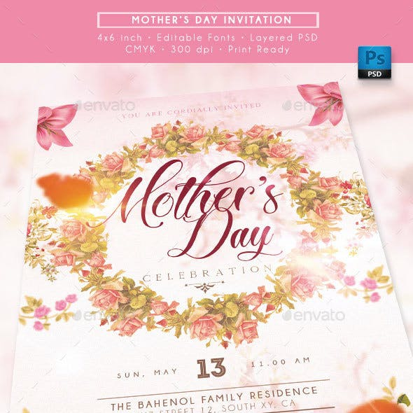 Mother Day Celebration Invitation