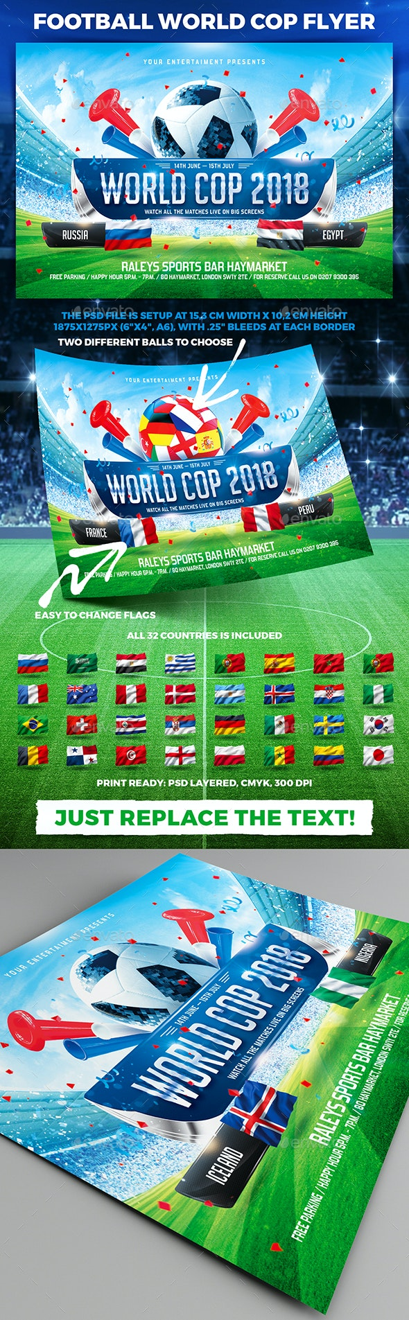 Football World Cop Flyer vol.1 - Sports Events