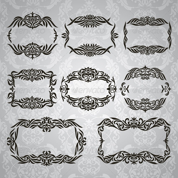 Collection of Vintage Frames - Borders Decorative