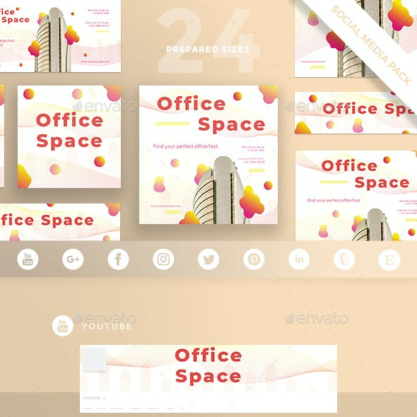 Office Space Social Media Pack