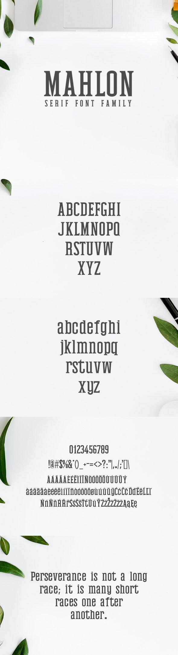 Mahlon Serif 3 Font Family Pack - Serif Fonts