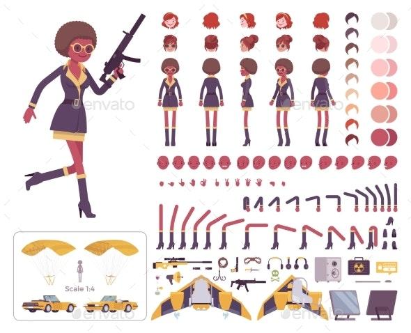 Secret Agent Black Woman, Intelligence Service Spy - People Characters