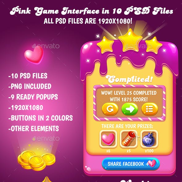 Sweet Game Interface Pack