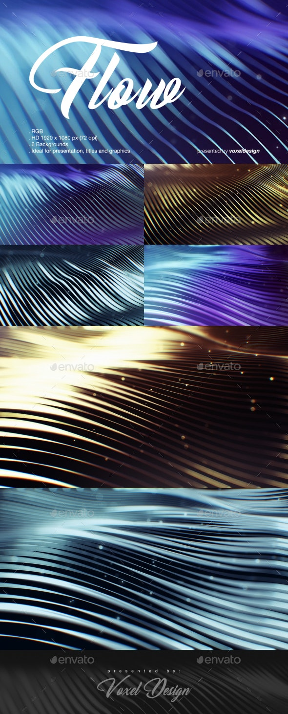 Flow Backgrounds Pack - Backgrounds Graphics