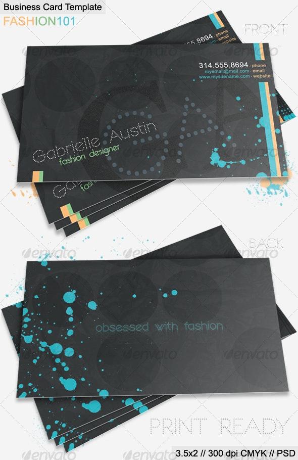 Fashion 101 Business Card By Jmzolman Graphicriver
