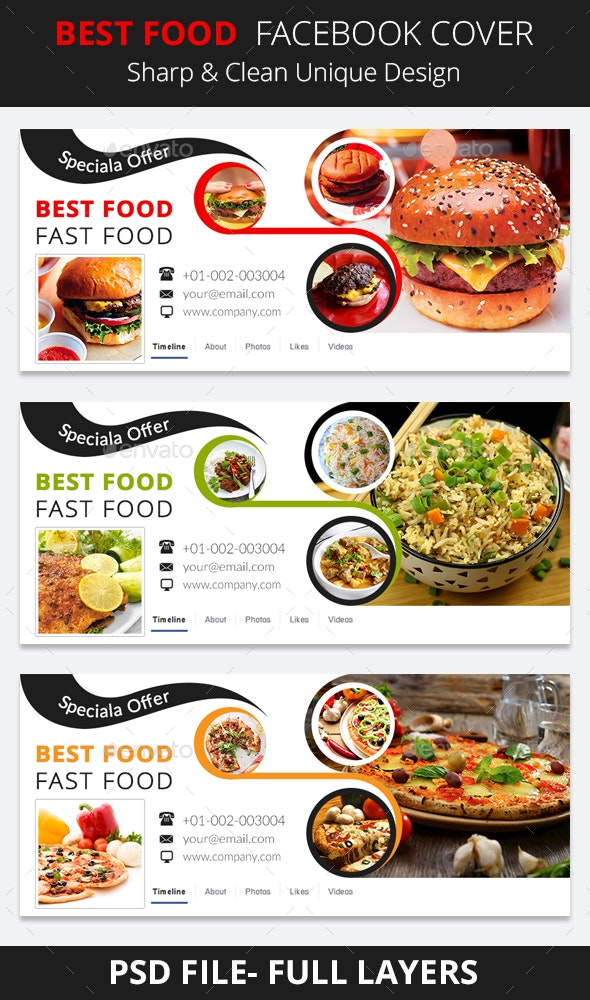 Best Food Facebook Cover by gogo06 | GraphicRiver