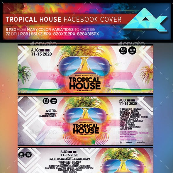 Tropical House Festival Facebook Cover