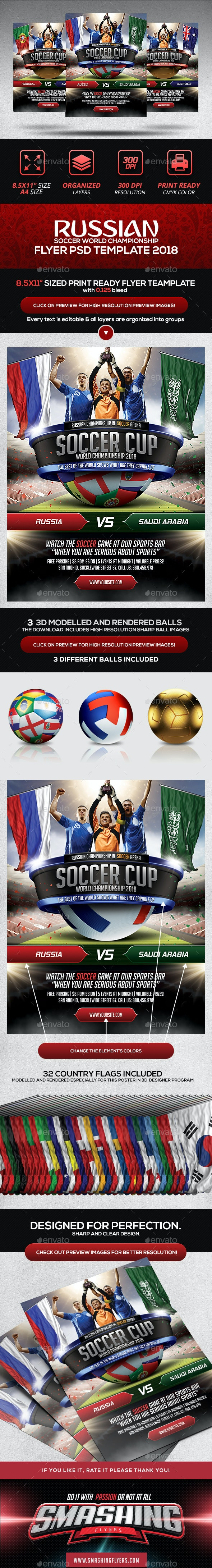 Soccer Cup Poster Template - Sports Events