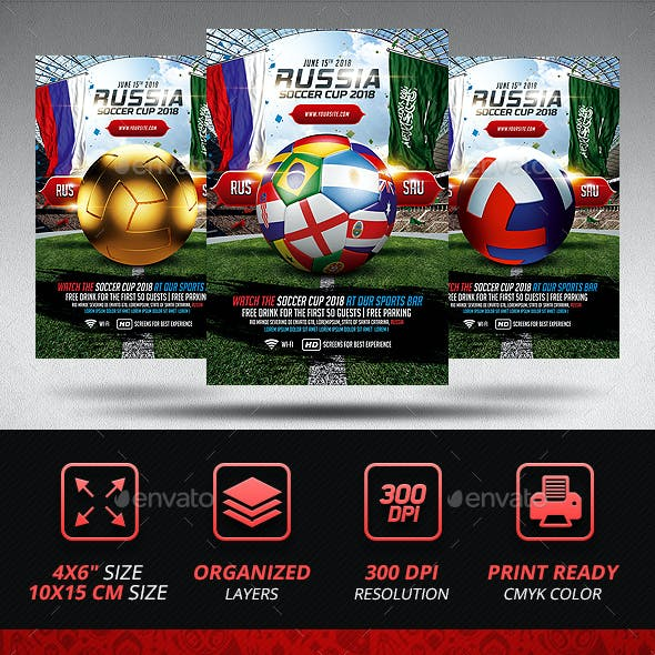 Soccer World Championship Flyer Template