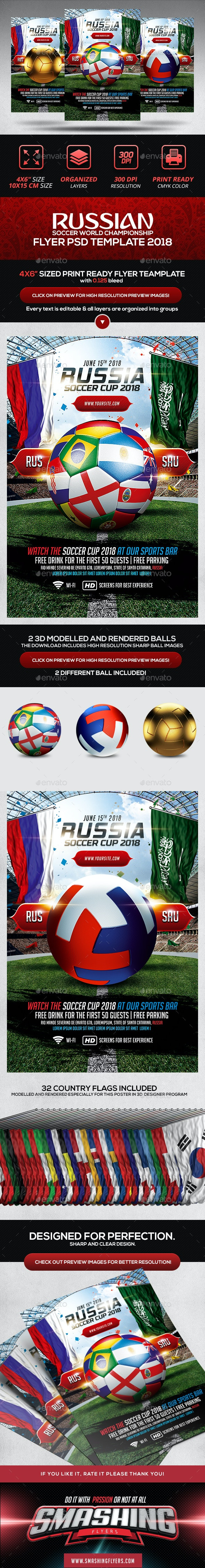 Soccer World Championship Flyer Template - Sports Events