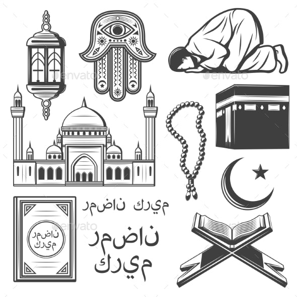 islam icon with religion and culture symbol by vectortradition graphicriver https graphicriver net item islam icon with religion and culture symbol 21918986