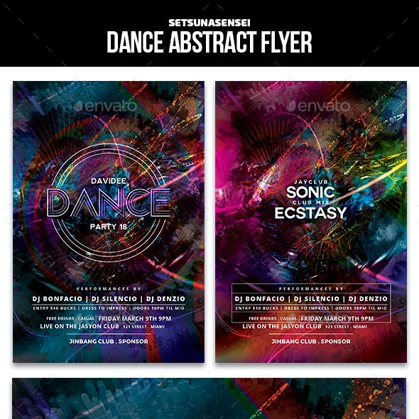 Dance Abstract Flyer