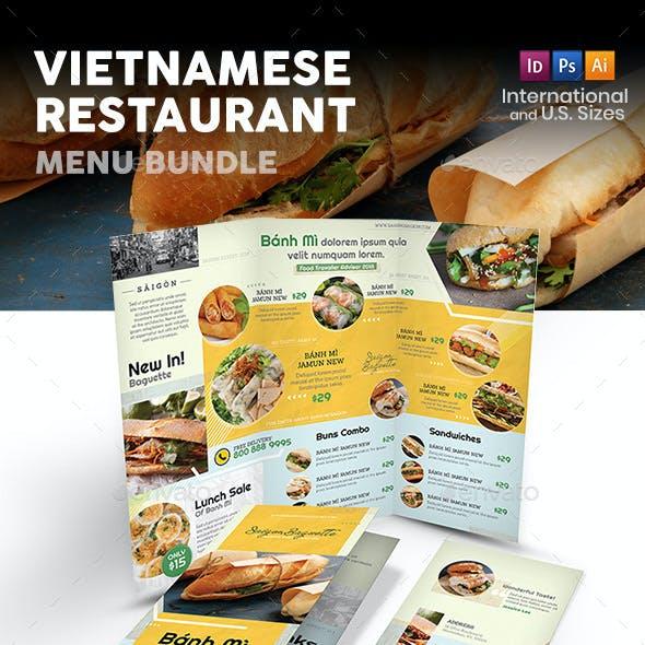 Vietnamese Restaurant Menu Print Bundle 4