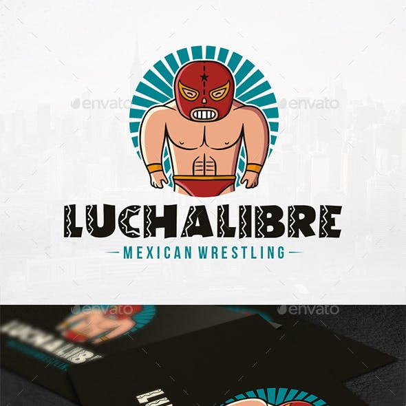 Wrestling Match Logo Template