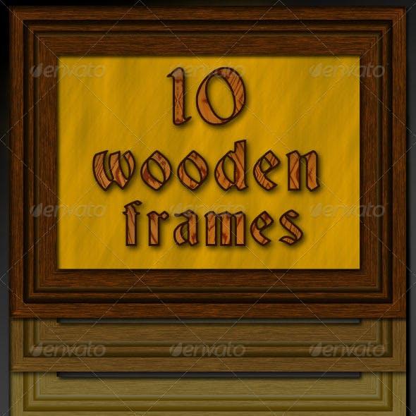 10 Wooden Frames