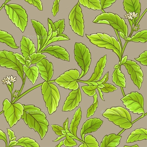 Stevia Vector Pattern - Food Objects