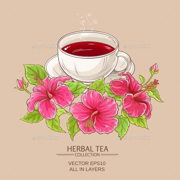 Cup of Hibiscus Tea - Health/Medicine Conceptual