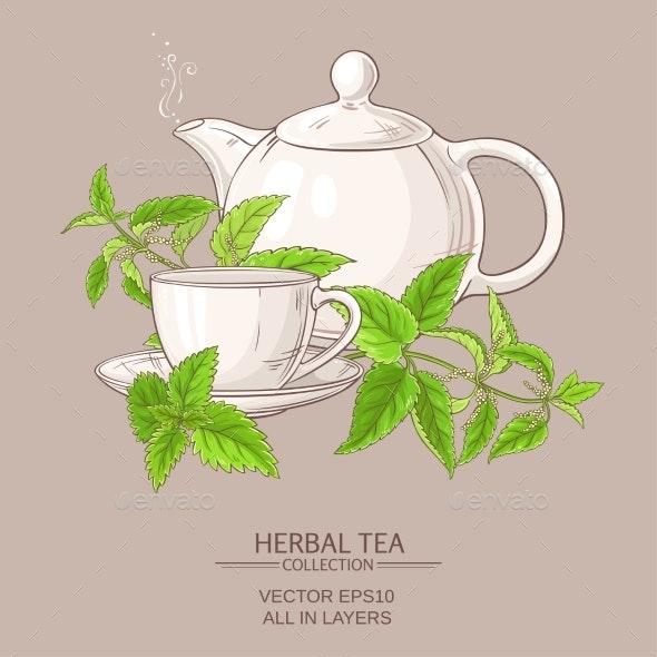 Nettle Tea Illustration - Food Objects