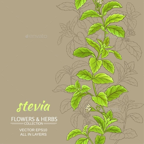 Stevia Vector Background - Health/Medicine Conceptual
