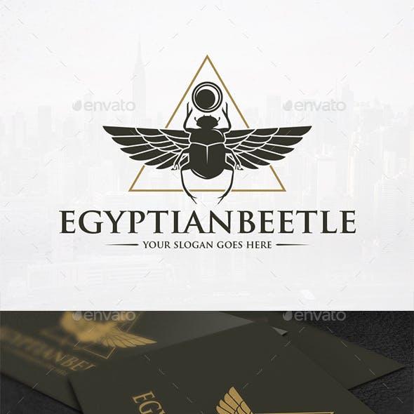 Pyramid Scarab Logo Design