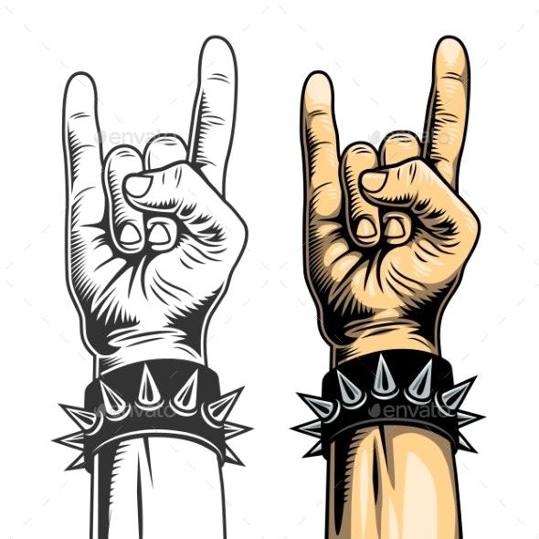 Hand in Rock Sign - Miscellaneous Vectors