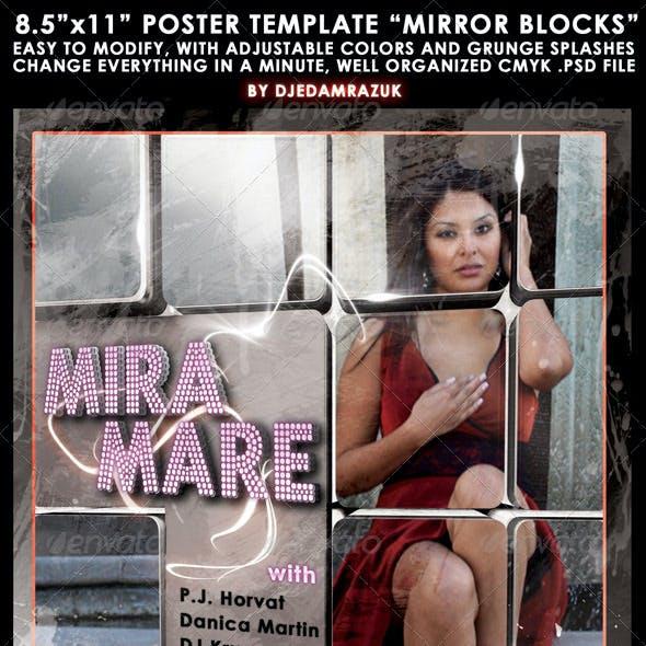 "8.5""x11"" Poster ""Mirror blocks"""