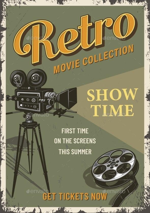 Cinema Film Festival Poster Template - Miscellaneous Vectors