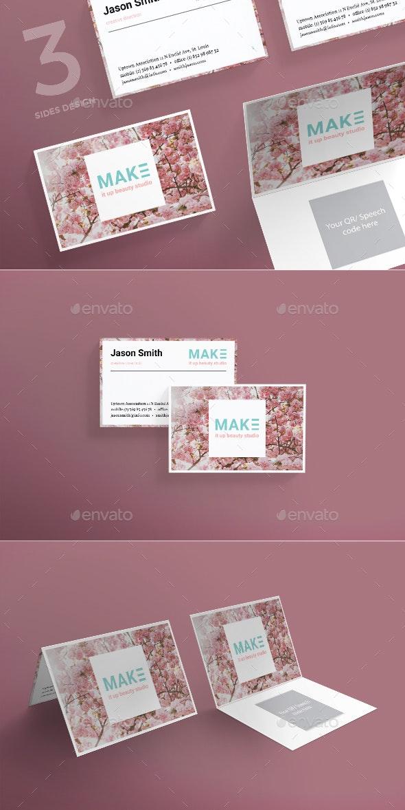 Beauty Studio Business Card - Corporate Business Cards