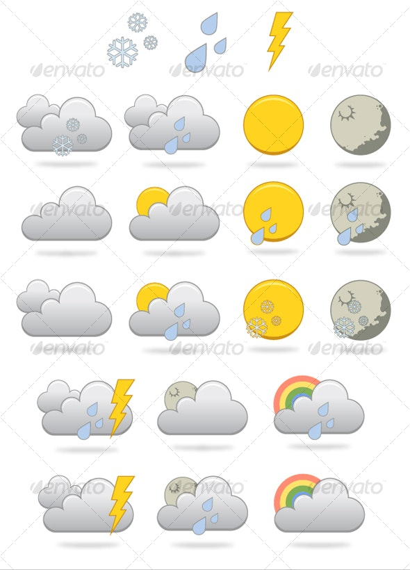 Mix And Match Weather Icon Set - Miscellaneous Icons