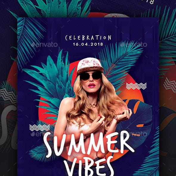 Summer Vibes Dj Flyer Templates