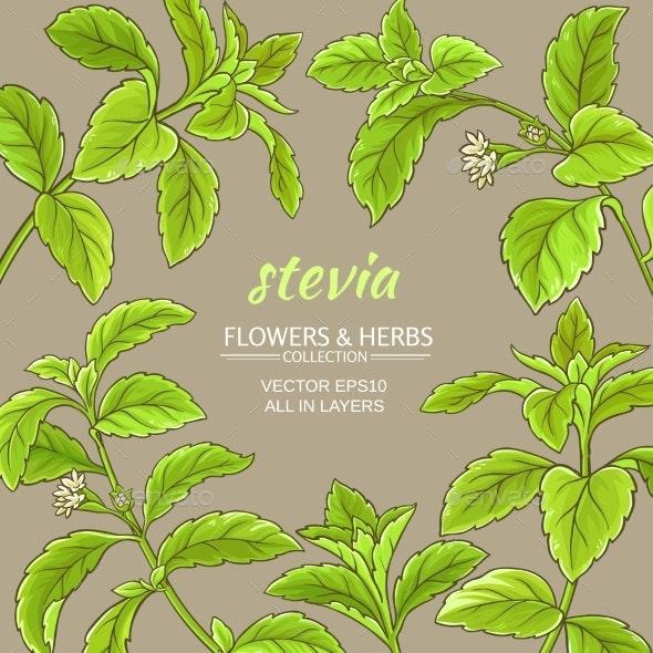Stevia Vector Frame - Health/Medicine Conceptual
