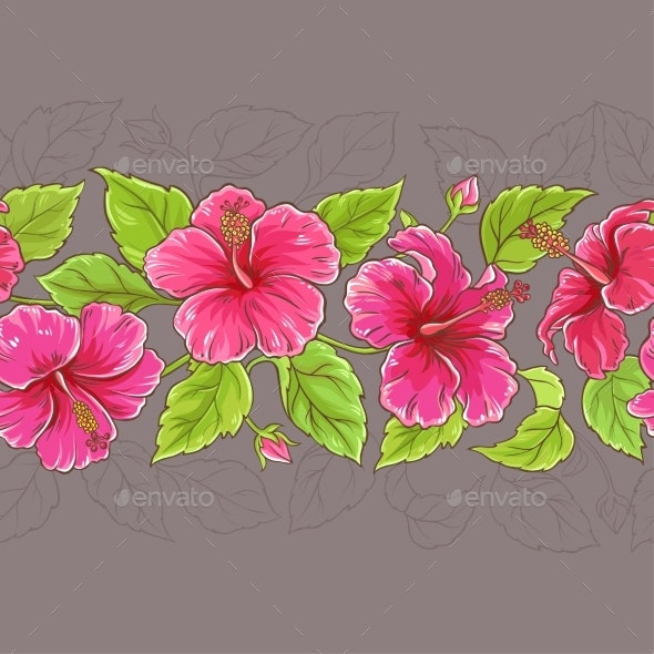 Hibiscus Horizontal Pattern - Health/Medicine Conceptual
