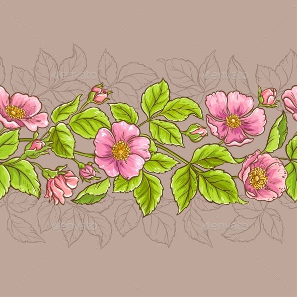 Wild Rose Flowers Pattern