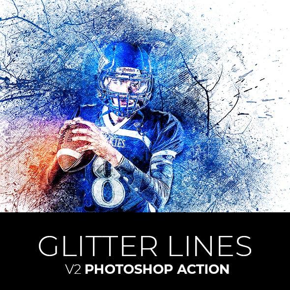 Glitter Lines V2 Photoshop Action