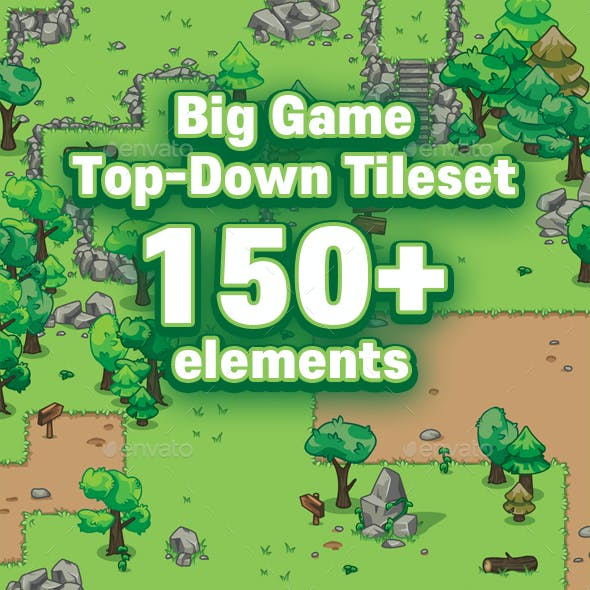 Big Game Top Down Tileset