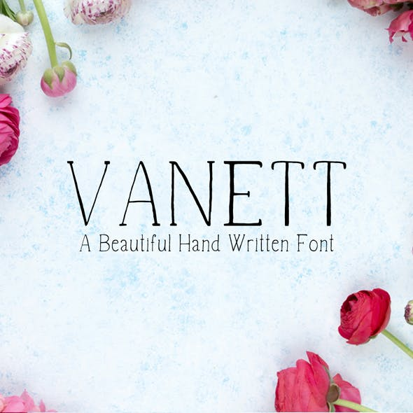 Vanett A Beautiful Handwritten Font