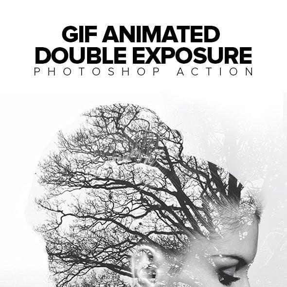 Gif Animated Double Exposure Photoshop Action