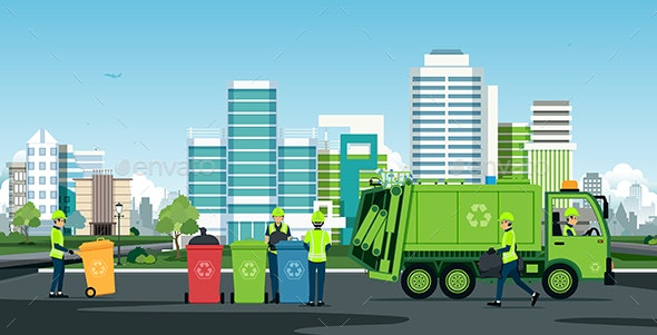 City Waste Trucks - Services Commercial / Shopping