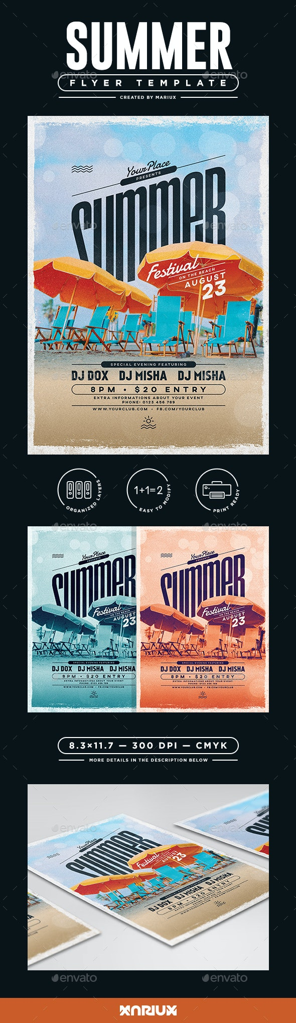 Summer Flyer/Poster - Clubs & Parties Events
