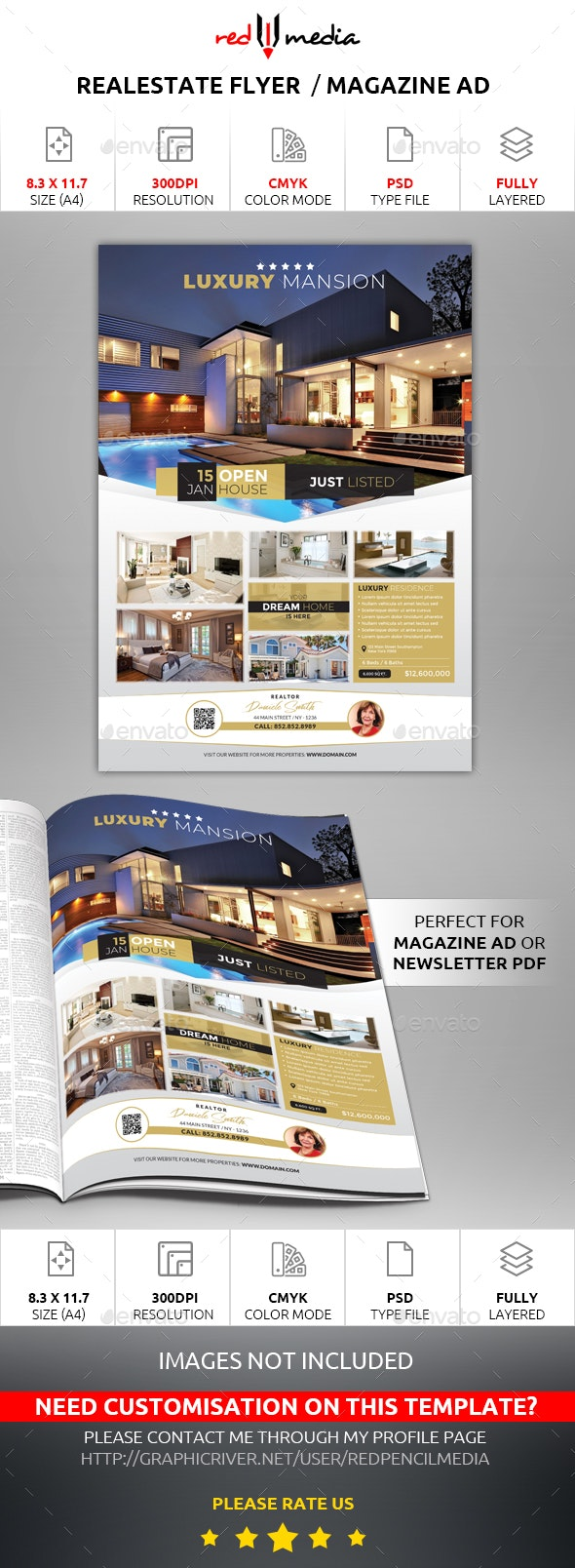 Real Estate Listing Flyer / Magazine AD - Commerce Flyers