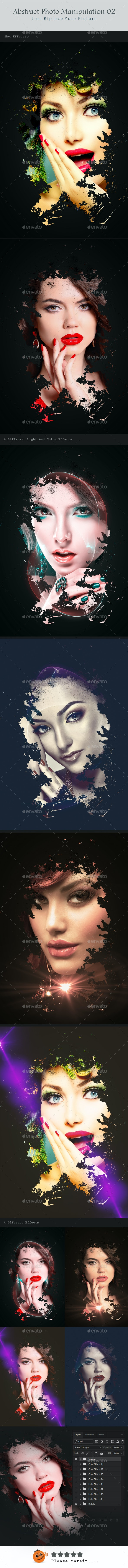 Abstract Photo Manipulation 02 - Photo Templates Graphics