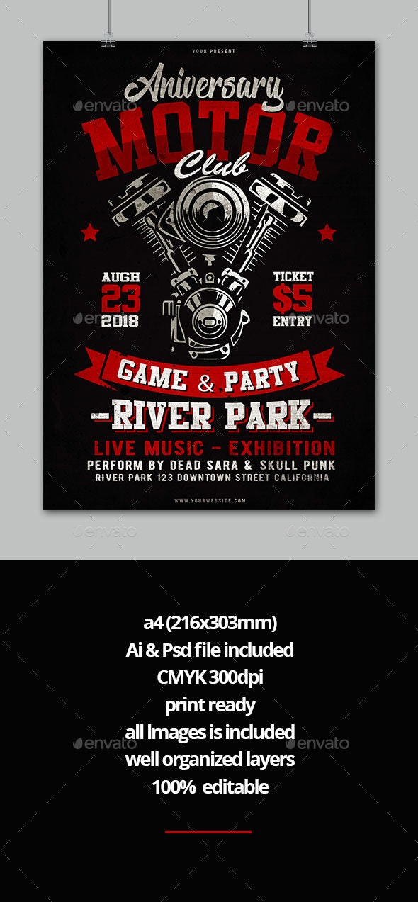 Motorcycle Flyer - Events Flyers