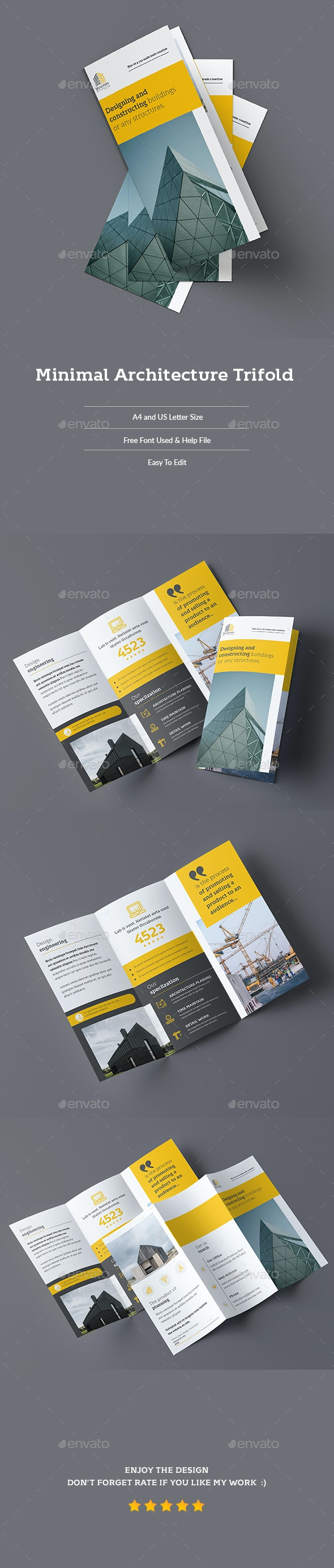 Minimal Architecture Trifold - Corporate Brochures